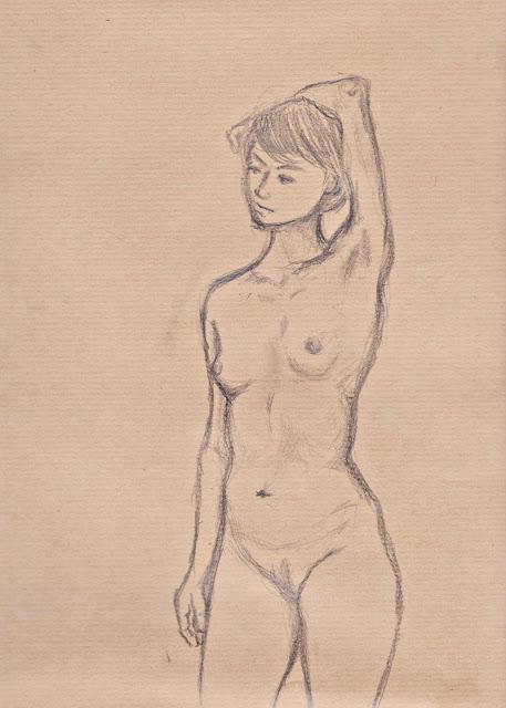 Weiblicher Akt, stehend