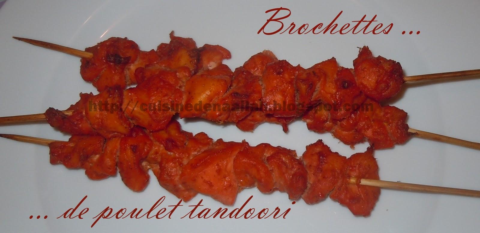 brochettes de poulet tandoori au four blogs de cuisine. Black Bedroom Furniture Sets. Home Design Ideas