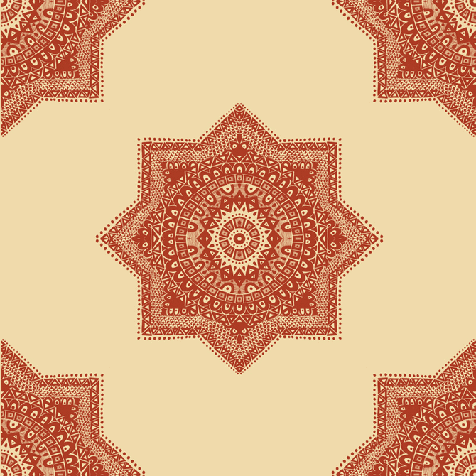 The Ethnic Red Moroccan Pattern