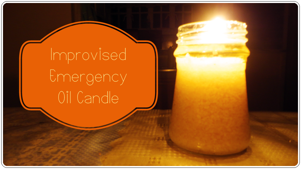 Improvised Emergency Oil Candle