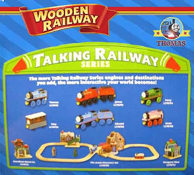 Learning Curve speaking electronic voice box unit Thomas the tank engine wooden railway train set