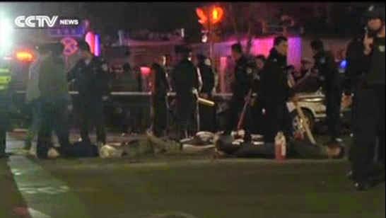 hình ảnh cuộc tấn công đẫm máu ở quảng trường Thiên An Môn làm 5 người chết và hàng chục người bị thương
