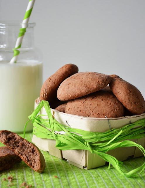 przepis na ciastka z masłem orzechowym, ciastka kakaowe