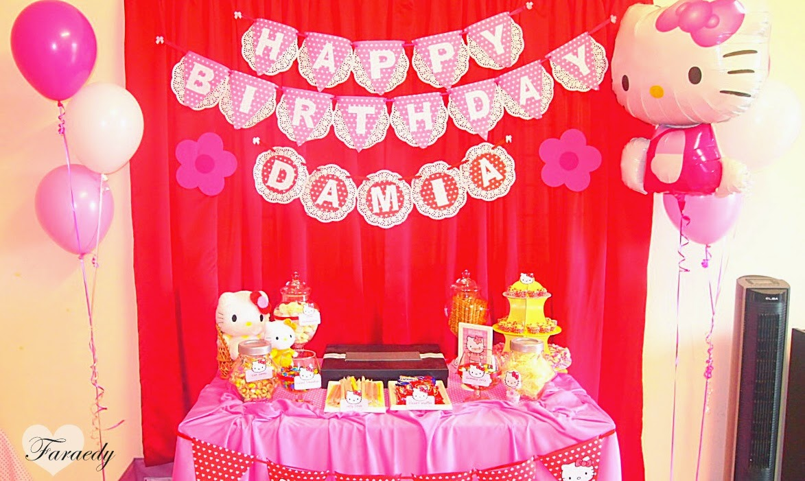 Faraedys Persiapan Sambutan Birthday Damia Hello Kitty
