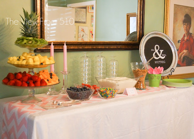 Wedding Brunch Yogurt Bar