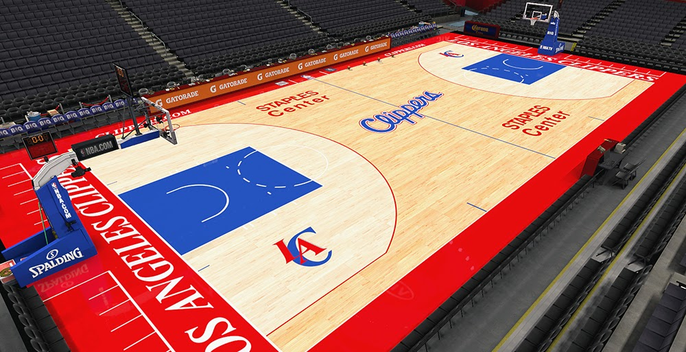 NBA Basketball Court Clippers