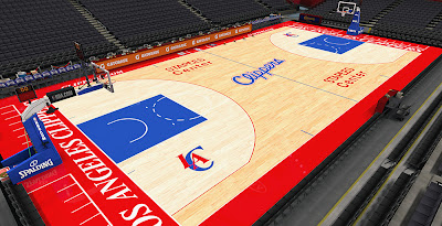 NBA 2K14 Clippers New Court HD Mod