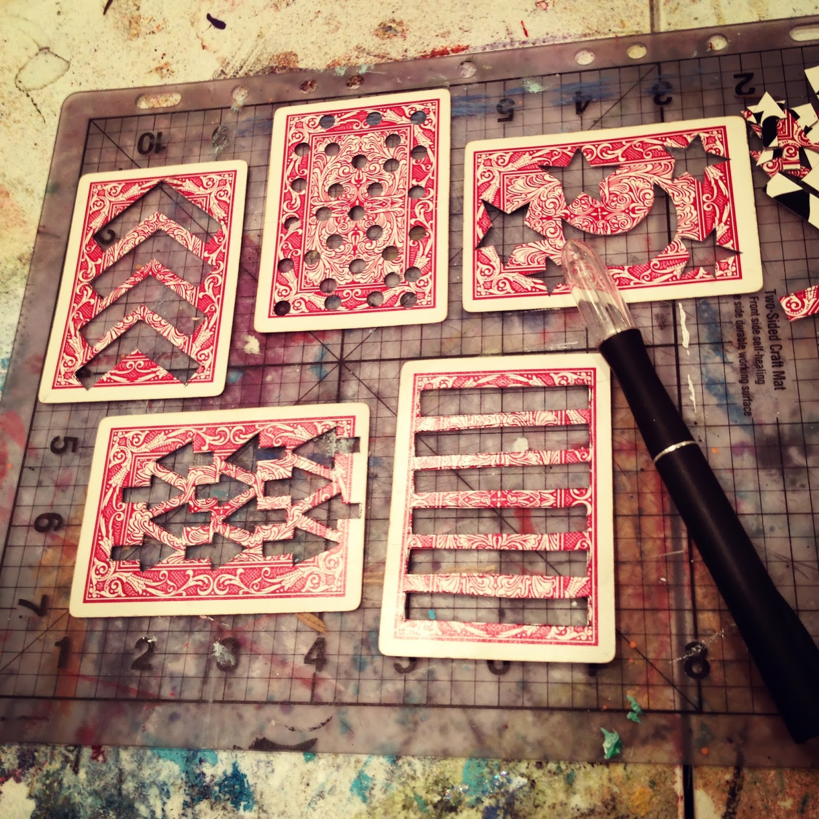 Playing Card Stencils Materials List