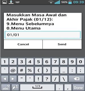 Pembuatan Kode Billing melalui SMS USSD