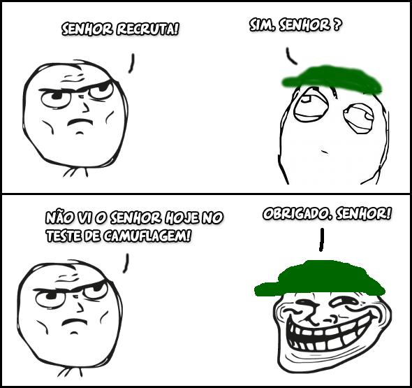 teste camuflagem oficial meme troll