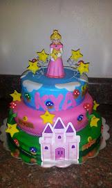 Mario Peach Cake