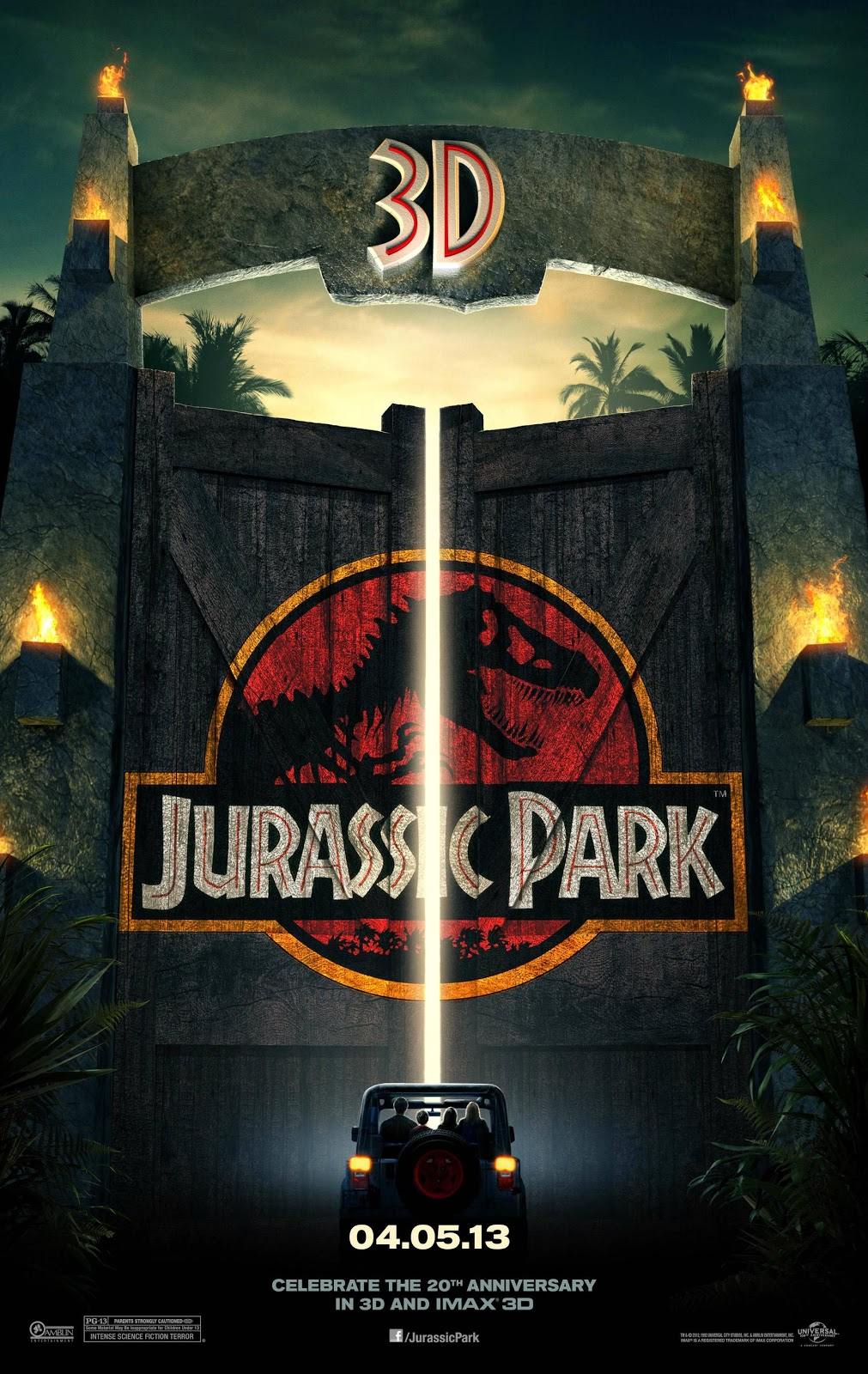 Jurassic Park 3D - Poster (2013)