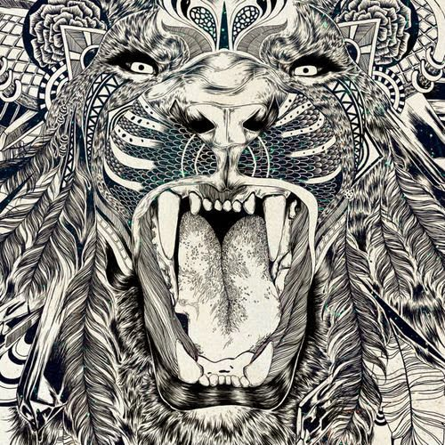 lion-zentangle