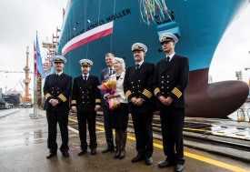 "Maiden voyage of ""Maersk Mc-Kinney Moller"""