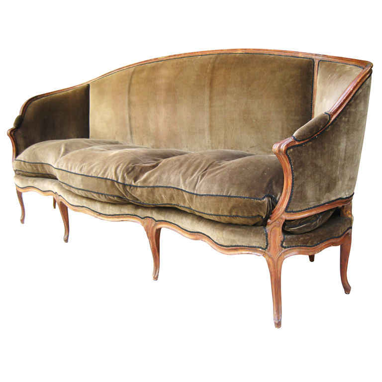 louis xv italian venetian walnut canape sofa circa 1850. Black Bedroom Furniture Sets. Home Design Ideas