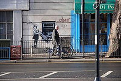 Bansky Stencil Graffiti