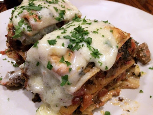 Coppi's Strip Steak Bechamel Lasagna