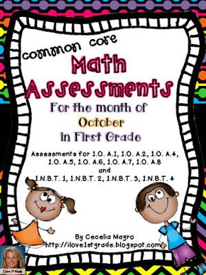 https://www.teacherspayteachers.com/Product/Common-Core-Math-Assessments-1st-Grade-October-923227