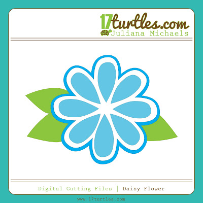 Juliana Michaels Daisy Flower Digital Cutting File
