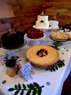 A table of cakes to celebrate a wedding    Photo by Patricia Stimac