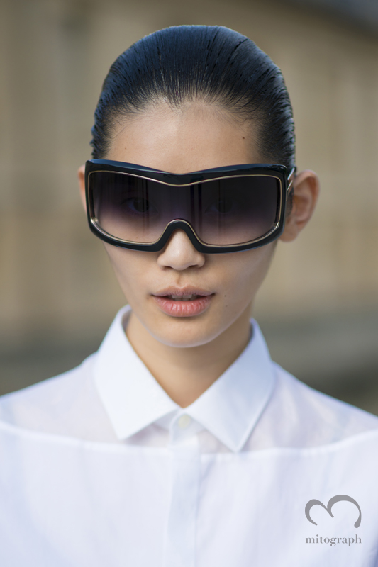 mitograph Ming Xi wearing Tom Ford After Christian Dior Paris Haute Couture Fashion Week 2013 Fall PFW Street Style Shimpei Mito