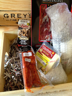 Hamper of Spanish goodies from Grey's Fine Foods