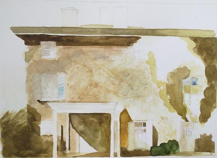 fachada casa andrew wyeth en proceso