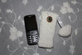 Strikka mobilveske