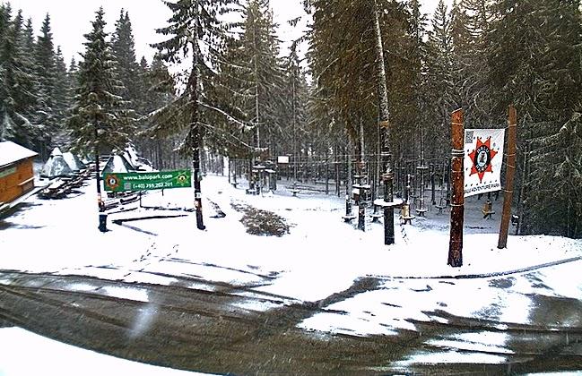 Erdély, Hargitafürdő, havazás, időjárás, Románia, Székelyföld, tavasz,