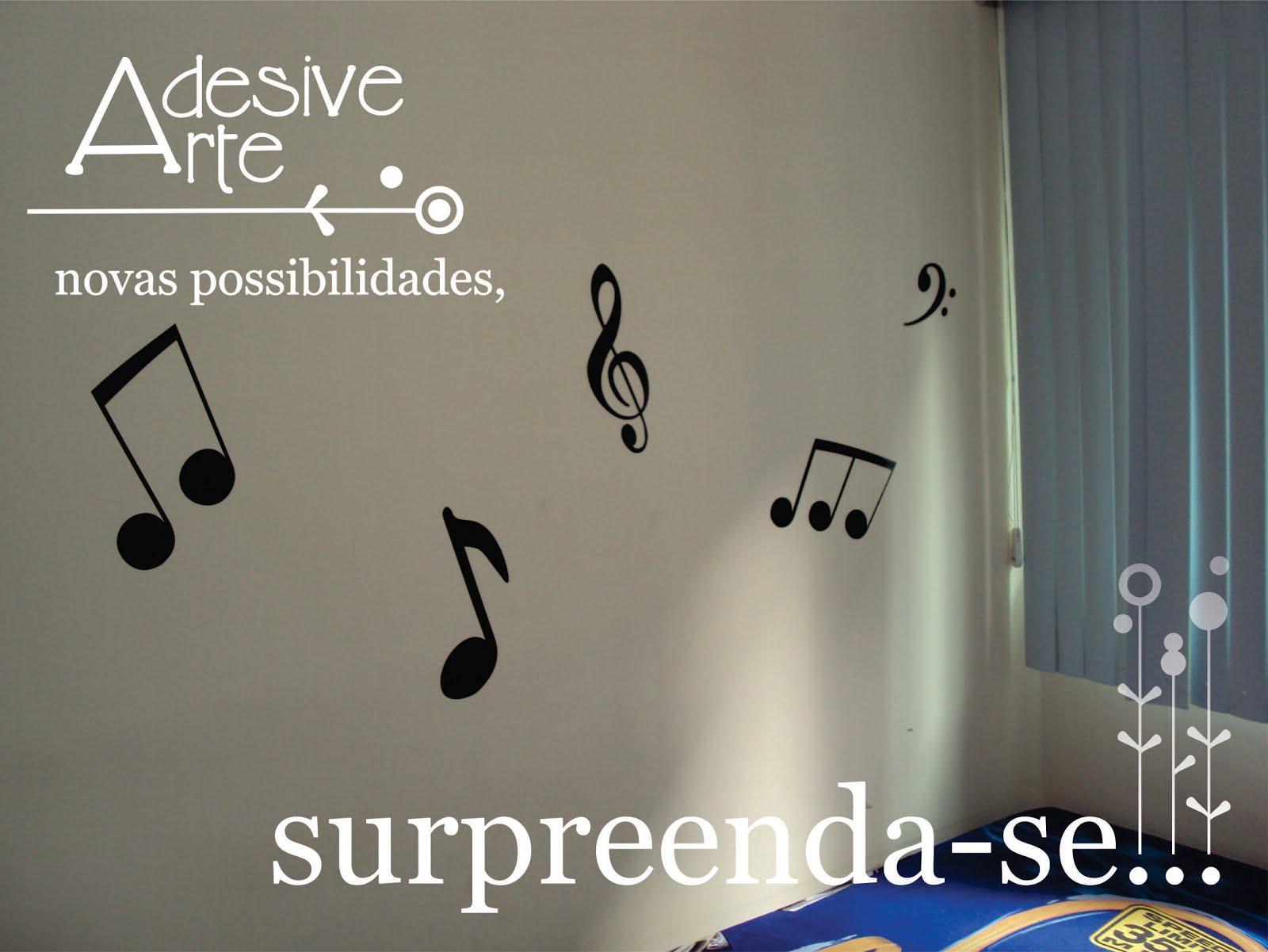 Notas músicais em suas paredes