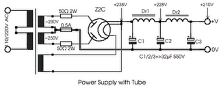 Power Supply with tube
