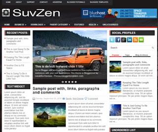 SuvZen blogger template