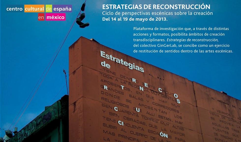 ESTRATEGIAS DE RECONSTRUCCIÓN