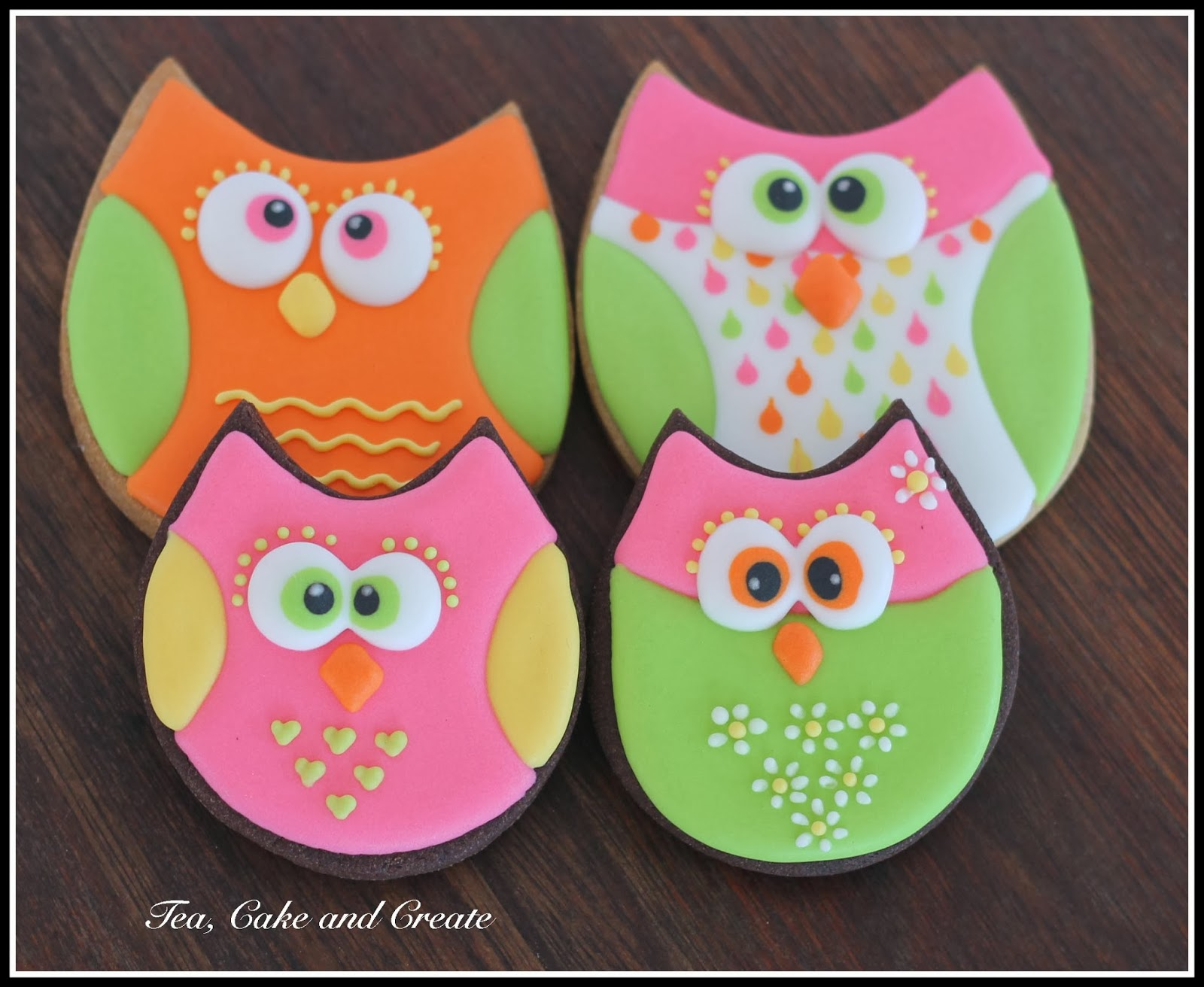 Owl Decorated Cookies Tea Cake Create Owl Cookies