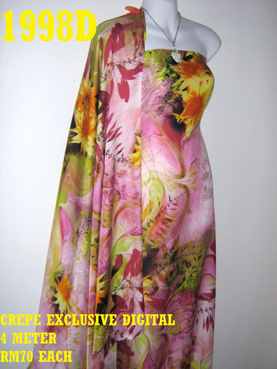 CP 1998D: CREPE EXCLUSIVE DIGITAL PRINTED, 4 METER