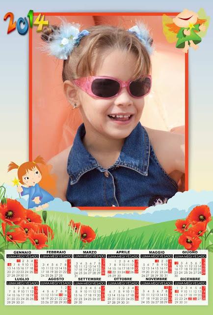 grafica calendario 2014 per bambini