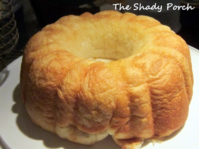 Bread baked in bundt pan