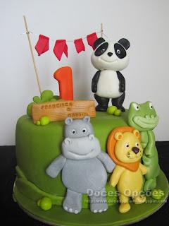 bolo festa aniversário panda