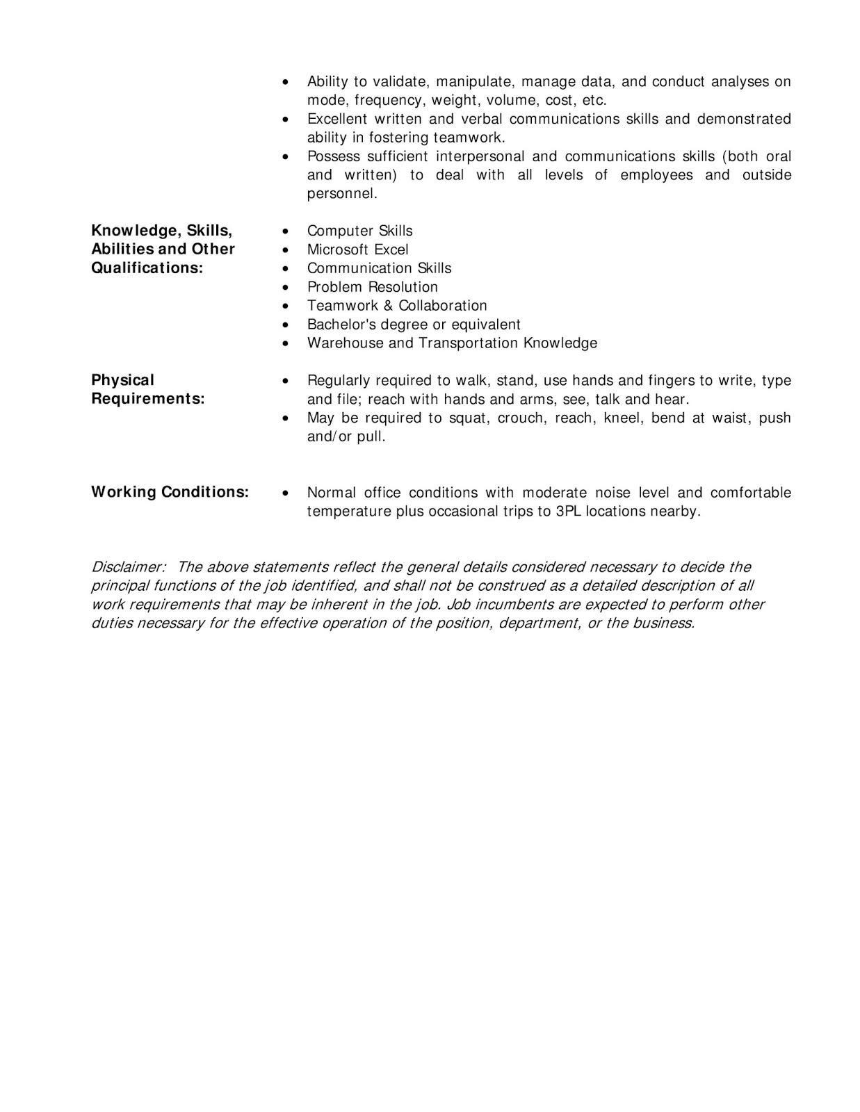 inventory manager job description