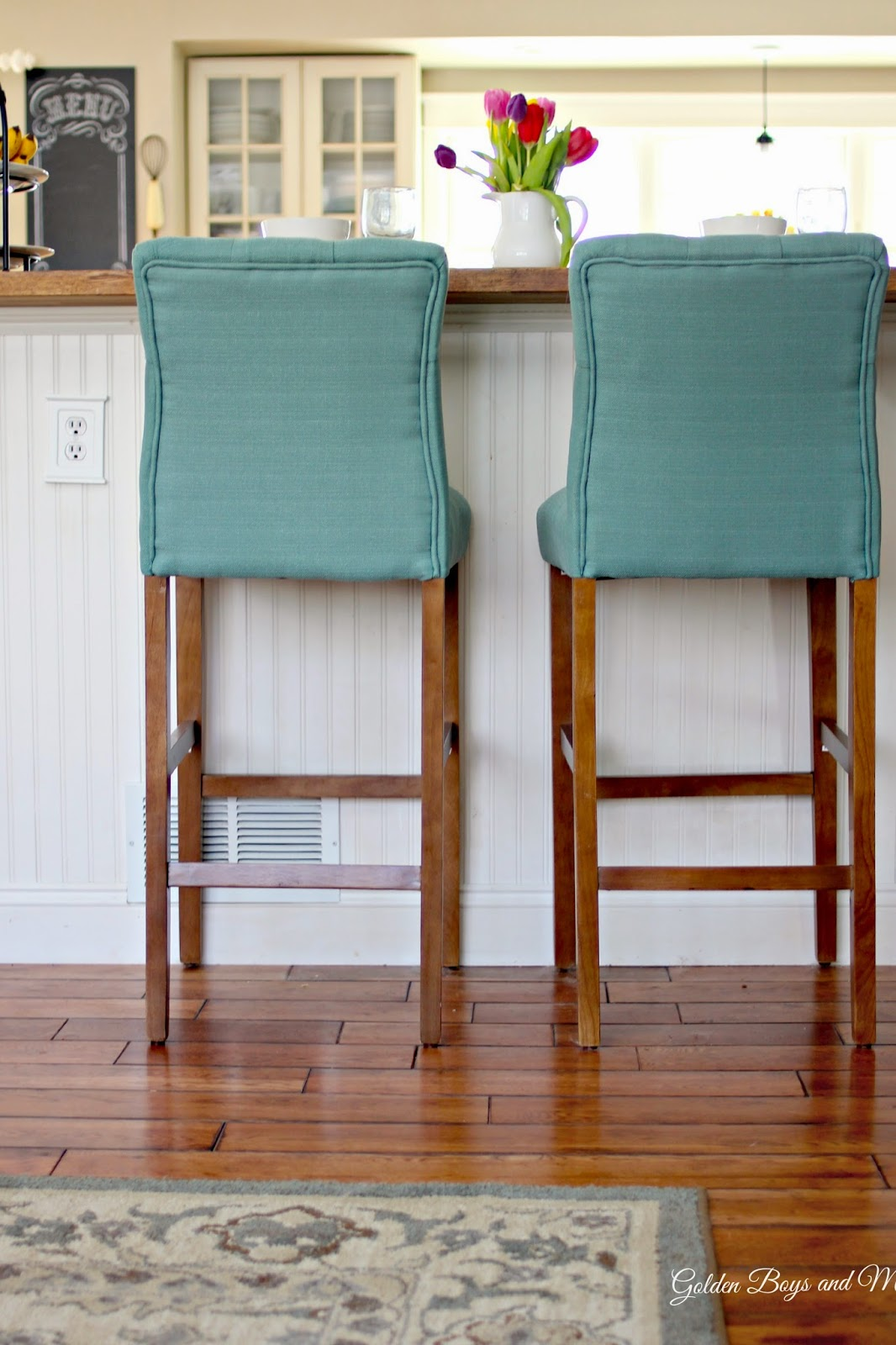 Target Threshold Tufted bar stools-www.goldenboysandme.com