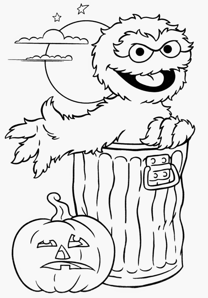 Free Oscar Sesame Coloring Pages