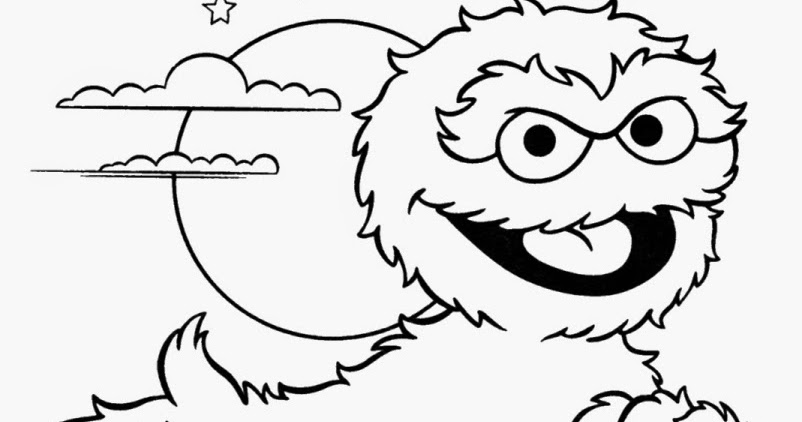 Oscar The Grouch Coloring Page - Eskayalitim