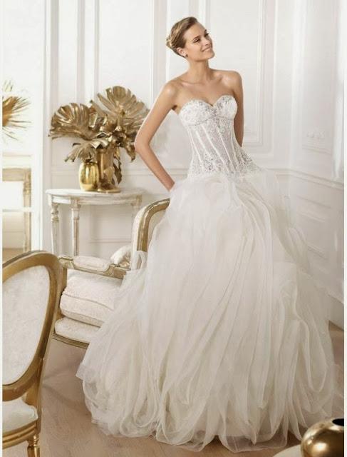 chic&modern wedding dress