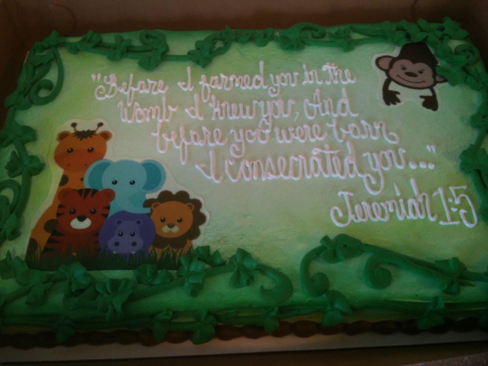Hectors Custom Cakes Baby Shower Safari Themes