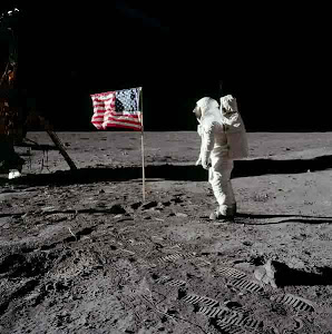 THE FIRST FLAG ON THE MOON