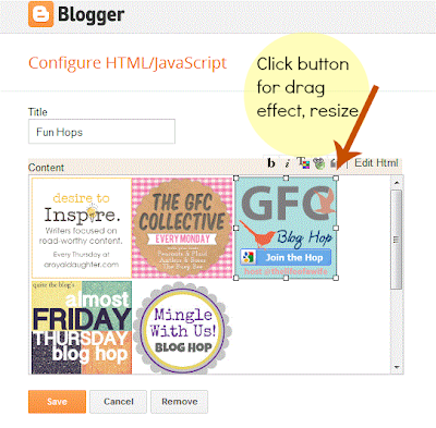resize and align blog button tutorial, blog design help