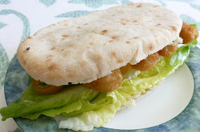 Fish finger salad pitta.