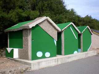 The '18 Holes' Crazy Golf art installation by Richard Wilson in Folkestone