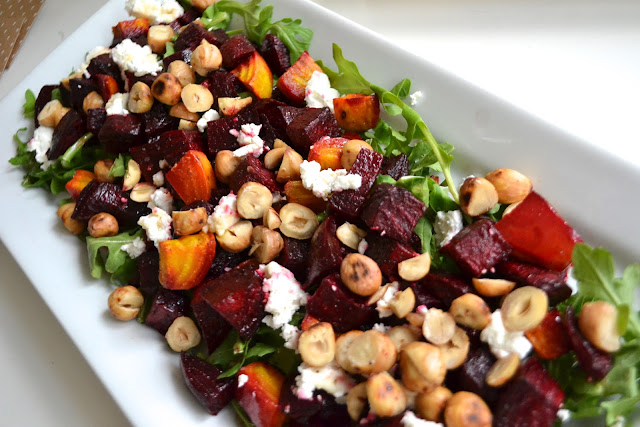 roasted beets, goat cheese & hazelnut salad from paper{whites}
