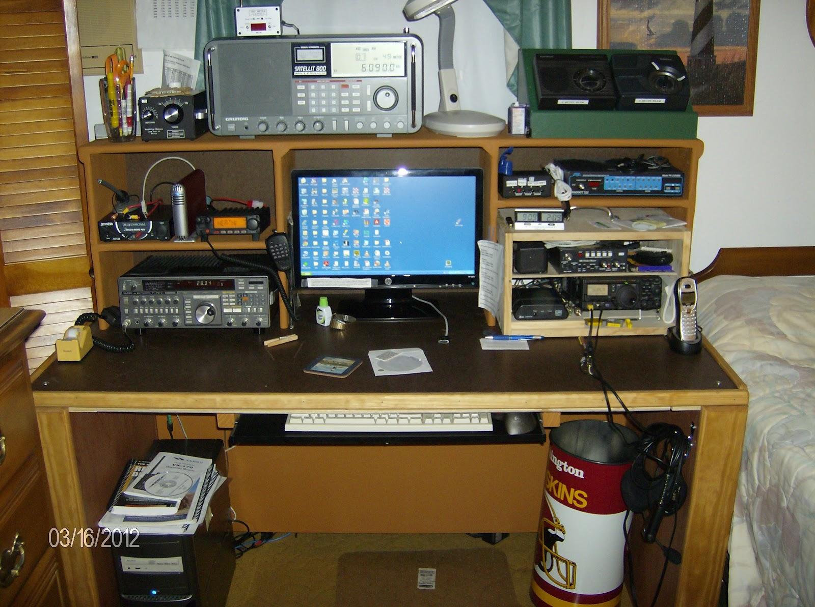 New Desk for the Ham Shack in Studio A